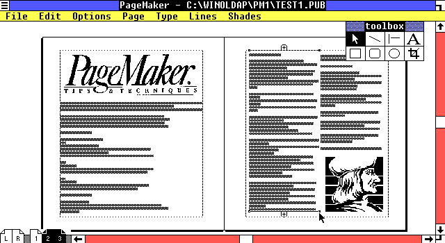 Pagemaker 1 DTP software